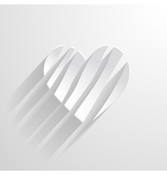 White paper heart vector