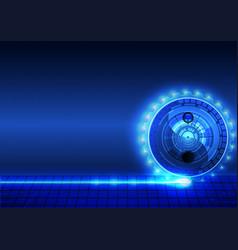 yin yang abstract background vector image