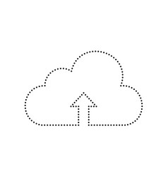 cloud technology sign  black dotted icon vector image