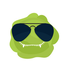 Angry cabbage aggressive green vegetable vector