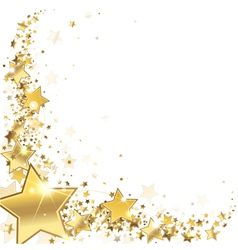 frame gold stars vector image