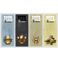 Set of beer labels vector
