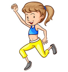 Workout girl vector image