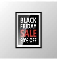 Black friday type marketing template vector
