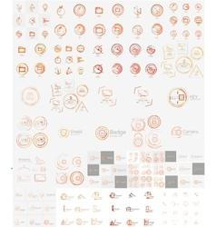 mega set of linear stamp logos vector image