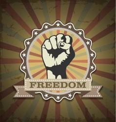 Symbol protest vector image
