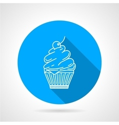 Line icon for muffin vector