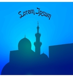 Night landscape with beautiful mosques and vector