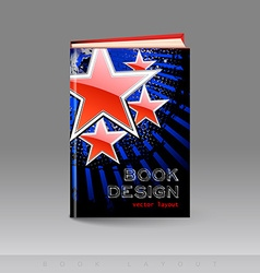 Modern abstract brochure as book vector