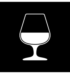 The glass with brandy icon brandy symbol flat vector