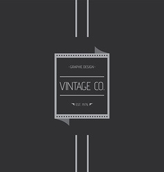 Vintage label theme vector
