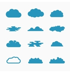 Cloud icons vector