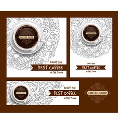 Coffee print template vector