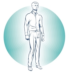 Single business standing man vector