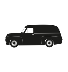 Black silhouette of a retro car vector
