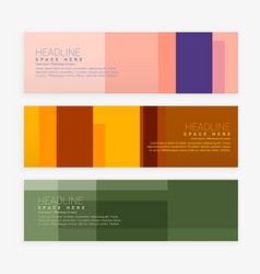 Abstract web banners set vector