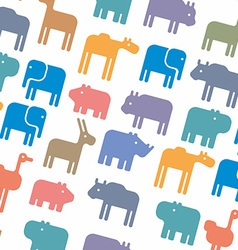 Animals silhouette seamless pattern vector image vector image
