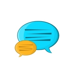Bubble speech icon cartoon style vector image vector image