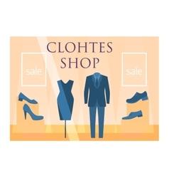 Clothes shop facade vector