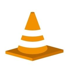 Cone tool construction icon vector