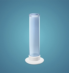 Cylindrical beaker vector image vector image