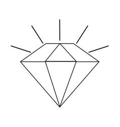 Diamond cartoon icon image vector