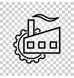 factory icon vector image vector image