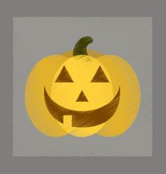 flat shading style icon halloween pumpkin vector image