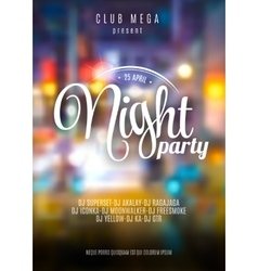flyer template for night party Premium vector image vector image
