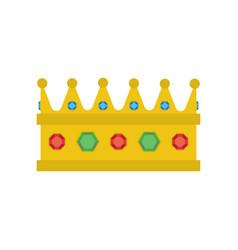 gold royal crown vector image
