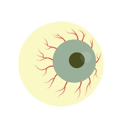 Halloween zombie eye vector image