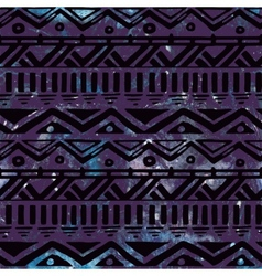 Hand drawn black aztec tribal seamless background vector