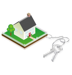 house attached to keys as keyring vector image