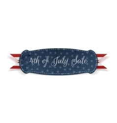 Independence Day 4th of July greeting Card vector image