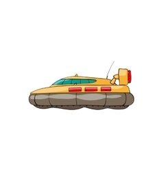 Kids toy hovercraft vector