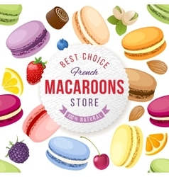 Macaroons store emblem vector image vector image