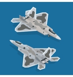 Military airplane at flying Flat 3d isometric vector image vector image