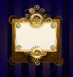 Paper Banner with Gears vector image vector image