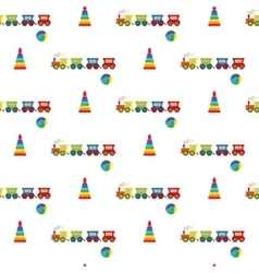 Pyramid ball and locomotive vector image