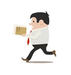 running clerk vector image vector image