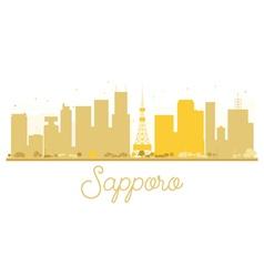 Sapporo skyline golden silhouette vector