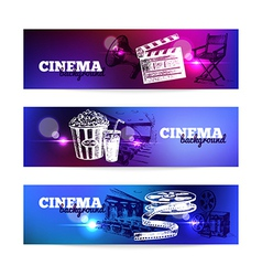 Set of movie cinema banners vector image vector image