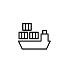 ship icon on white background vector image vector image