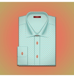 shirt with polka dots vector image vector image