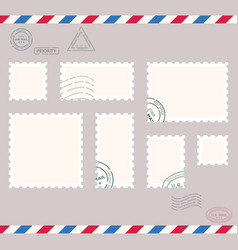 small post stamps vector image
