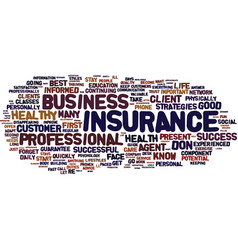 the insurance agent s guide to success text vector image vector image