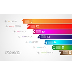 Timeline to display your data with infographic vector