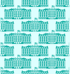 White house america seamless pattern us president vector