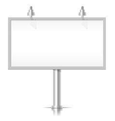 White bilboard vector