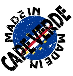 Made in Cape Verde vector image
